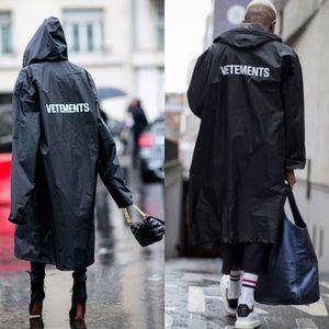 Vetements Black Oversized Raincoat
